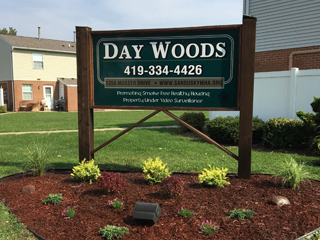 Day Woods housing complex sign